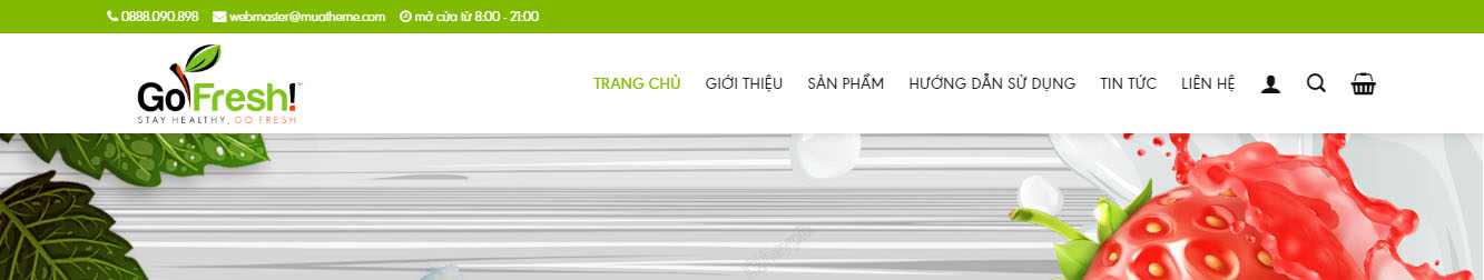 FreshShop – Theme wordpress bán thực phẩm sạch
