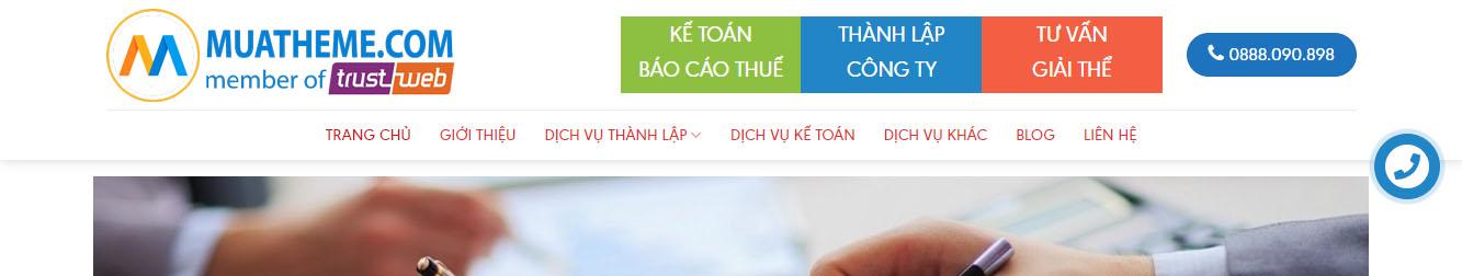 KeToan-Thue – Theme wordpress dịch vụ kế toán, khai báo thuế