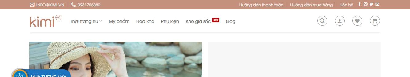 Theme WordPress thời Trang Nữ Cao Cấp
