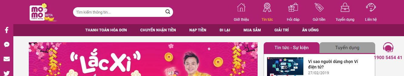 Momo – Theme WordPress giới thiệu app ví điện tử
