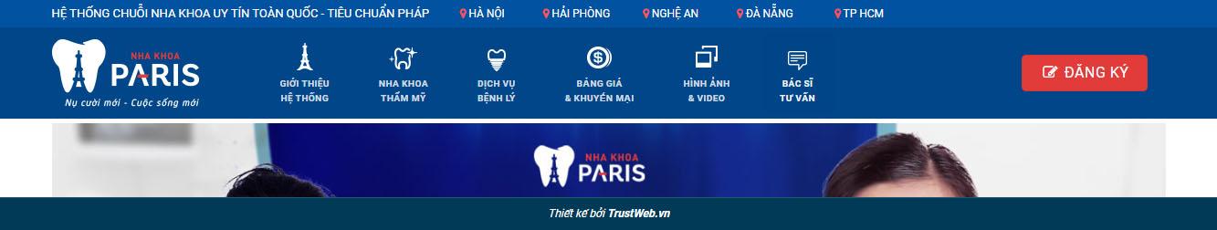 NhaKhoa3 – Theme WordPress nha khoa mẫu số 3