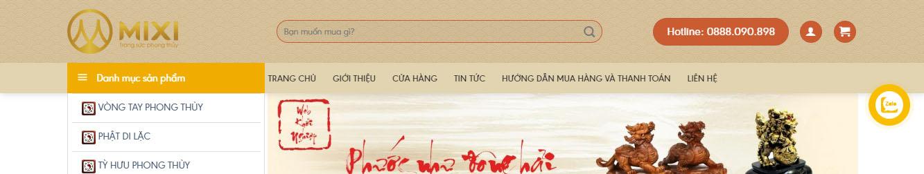 PhongThuy – Theme WordPress shop đồ phong thủy