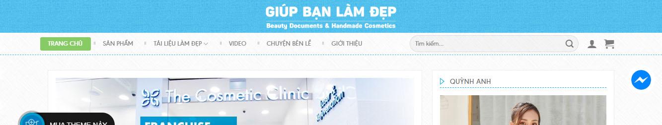 Quỳnh Anh Shop – Theme WordPress bán mỹ phẩm dạng profile cá nhân