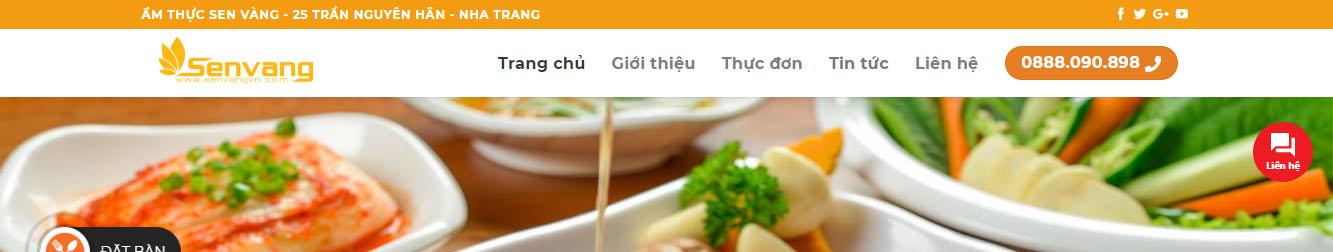 SenVang – Theme WordPress nhà hàng 2