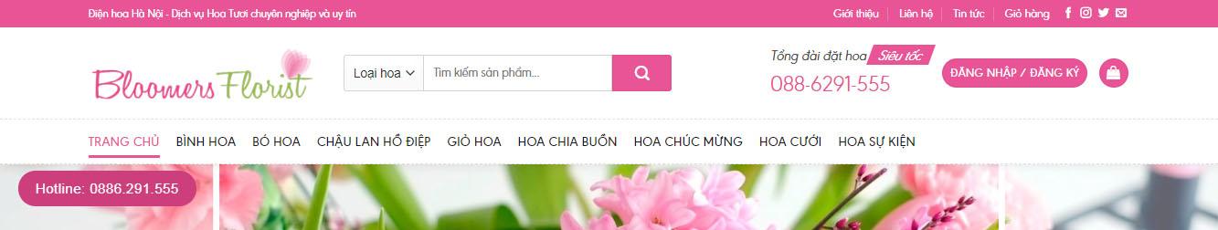 ShopHoa3 – Theme WordPress shop bán hoa tươi đẹp mẫu số 3