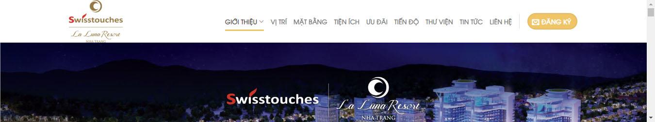 Swisstouches La Luna Resort – Theme WordPress bất động sản mẫu số 9