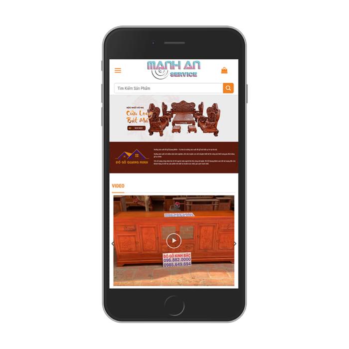 Mẫu Website Nội Thất Gỗ Tự Nhiên MA-137