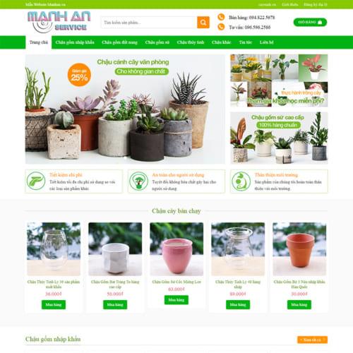 Mẫu Website Bán Chậu Hoa Cảnh, Bán Hoa MA-012