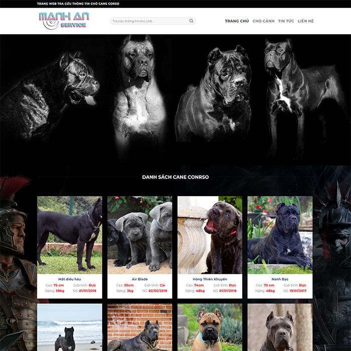 Mẫu Website Bán Chó Cảnh MA-016
