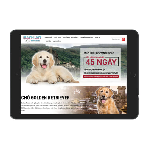 Mẫu Website Bán Chó Cảnh MA-197