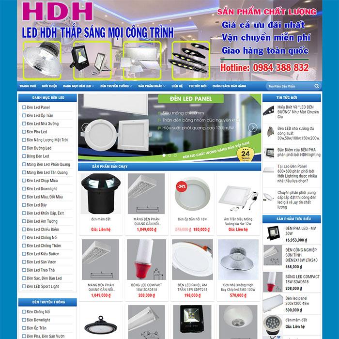 Mẫu Website Bán Đèn Led MA-041
