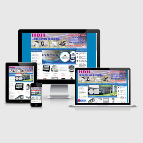 Mẫu Website Bán Đèn Led MA-141