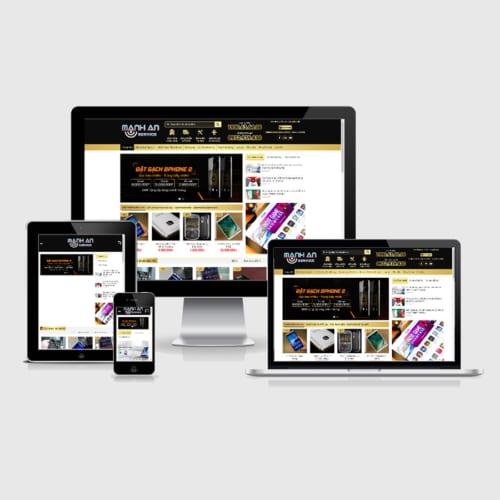 Mẫu Website Bán Điện Thoại MA-002