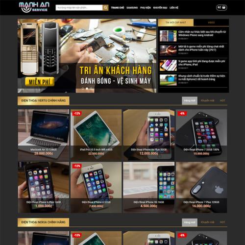 Mẫu Website Bán Điện Thoại MA-023