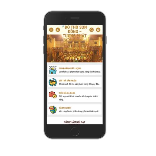 Mẫu Website Bán Đồ Thờ Tượng Phật MA-187