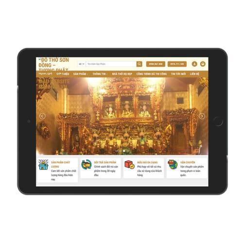 Mẫu Website Đồ Thờ MA-153
