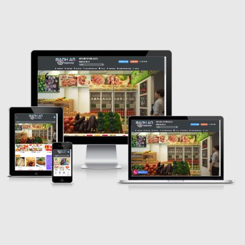 Mẫu Website Bán Đồ Văn Vặt, Sản Phẩm Đông Lạnh MA-132