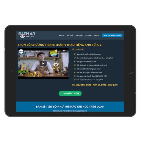 Mẫu Website Bán Khóa Học Online MA-051