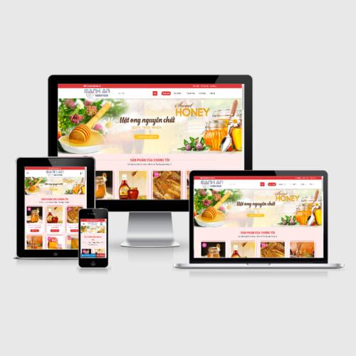 Mẫu Website Bán Mật Ong, Thực Phẩm Chức Năng MA-003