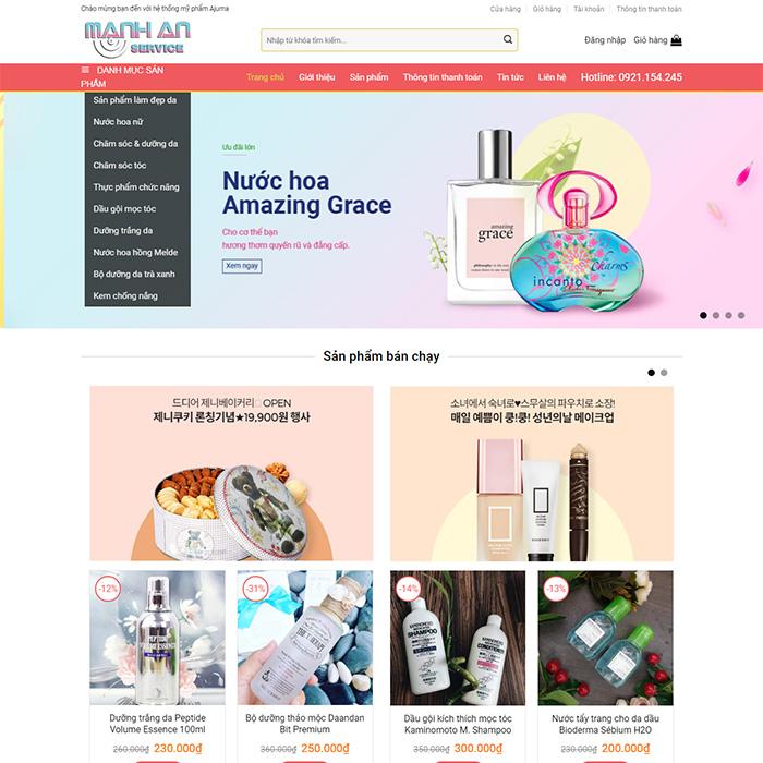 Mẫu Website Bán Mỹ Phẩm MA-063