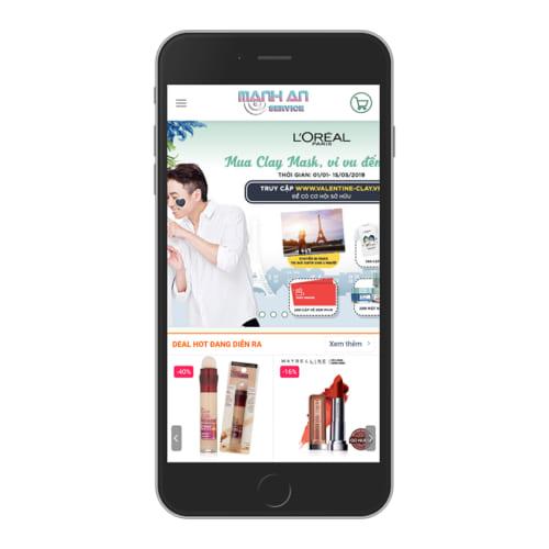 Mẫu Website Bán Mỹ Phẩm - Shop Mẹ Và Bé MA-064