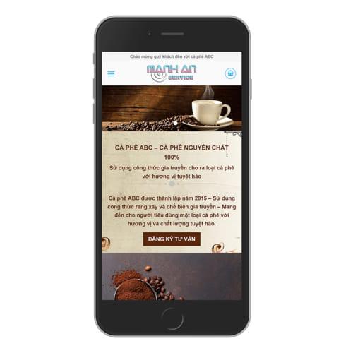 Mẫu Website Bán Nguyên Liệu Cafe - Cafe Rang Xay MA-014