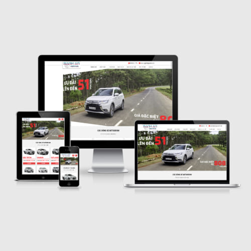 Mẫu Website Bán Oto Mitsubishi MA-160