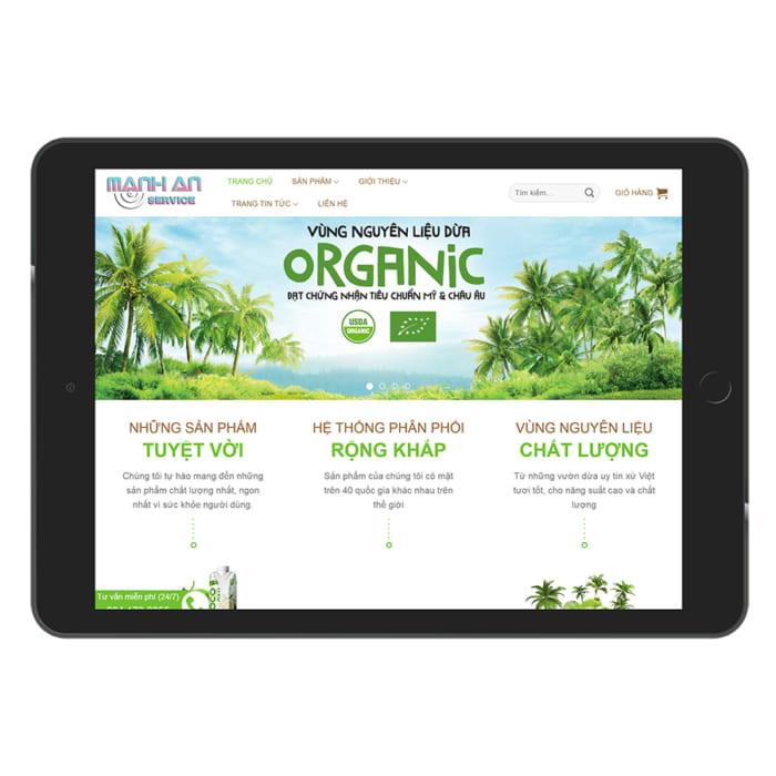 Mẫu Website Bán Sữa Dừa MA-049