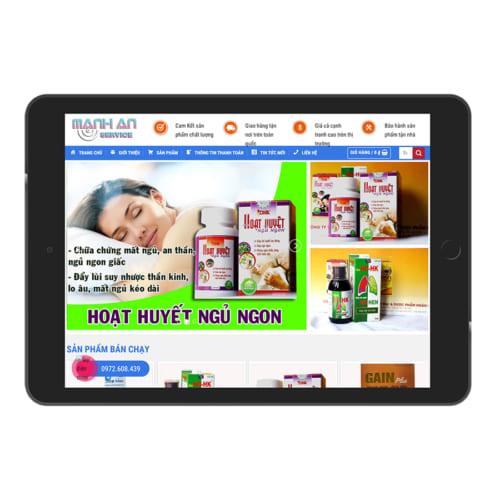 Mẫu Website Bán Thuốc MA-139