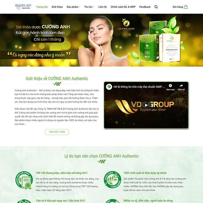 Mẫu Website Bán Thuốc, Thực Phẩm Chức Năng MA-089