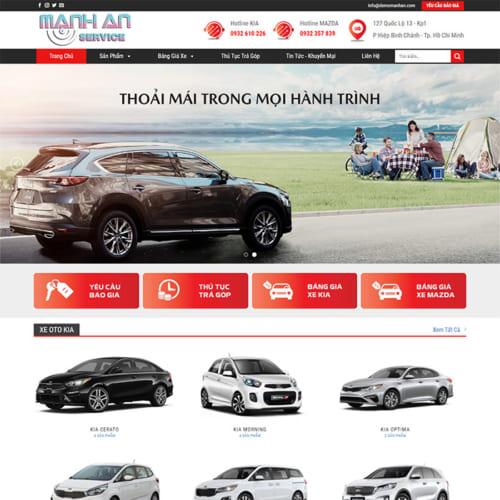 Mẫu Website Bán Xe Oto MA-174