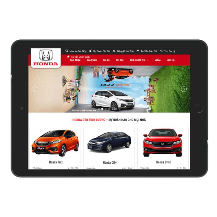 Mẫu Website Bán Xe Oto Honda MA-144