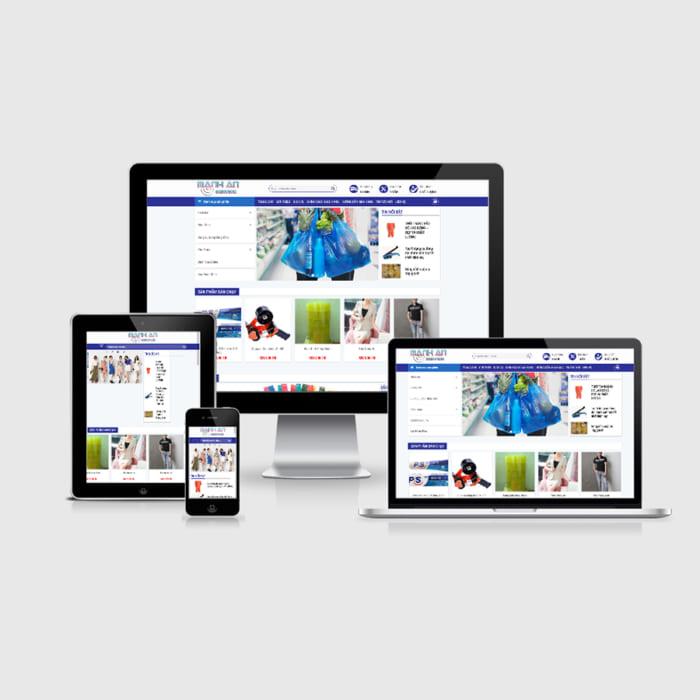 Mẫu Website Bao Bì Nilon MA-196