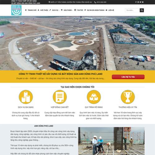 Mẫu Website Bất Động Sản MA-099
