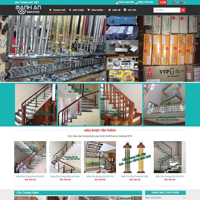 Mẫu Website Cầu Thang MA-100