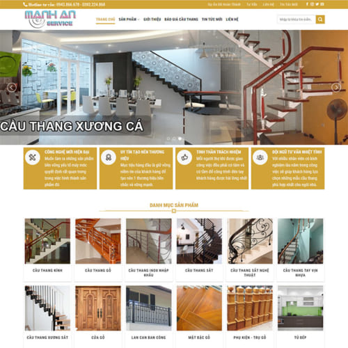 Mẫu Website Cầu Thang MA-120