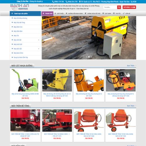 Mẫu Website Cho Thuê Máy Xây Dựng MA-090