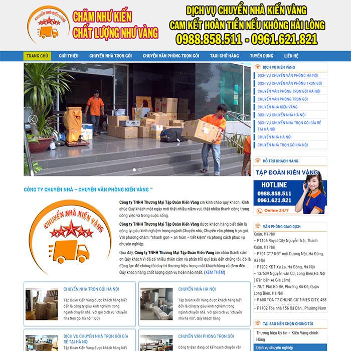 Mẫu Website Chuyển Nhà MA-152