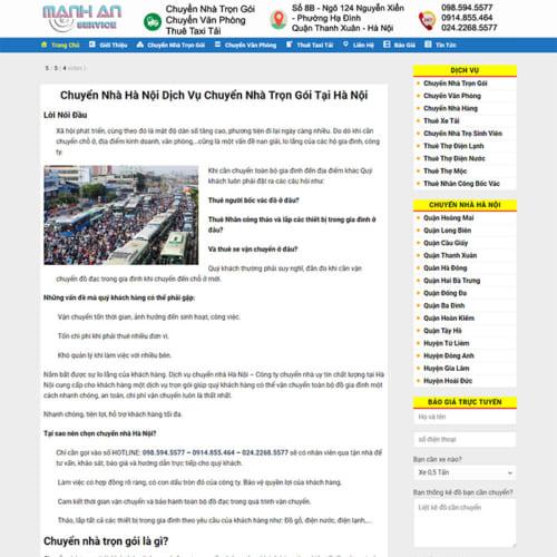 Mẫu Website Chuyển Nhà Trọn Gói MA-091