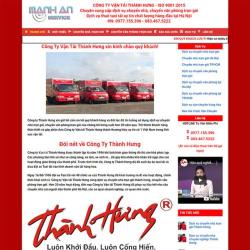 Mẫu Website Chuyển Nhà Trọn Gói MA-093