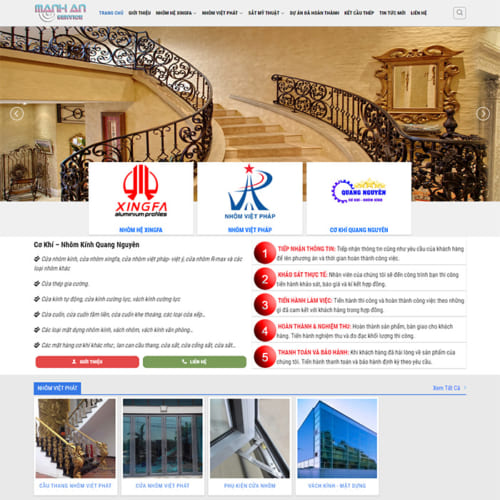 Mẫu Website Cơ Khí - Nhôm Kính MA-095