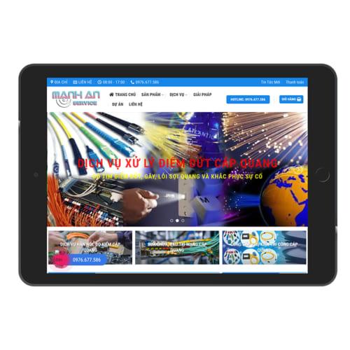 Mẫu Website Công Nghệ Cáp Quang MA-129