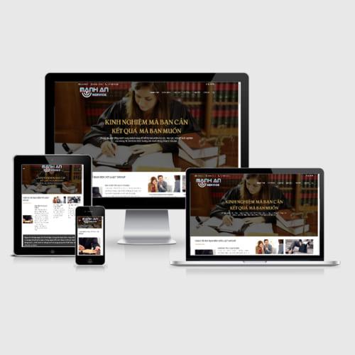 Mẫu Website Công Ty Luật Sư MA-059