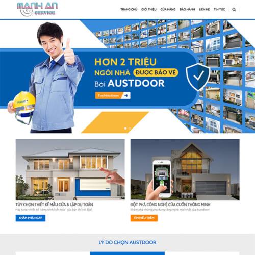 Mẫu Website Cửa Cuốn MA-018