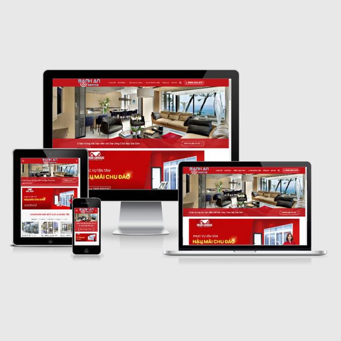 Mẫu Website Cửa Nhôm Kính MA-019