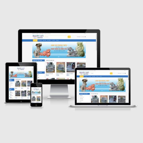 Mẫu Website Đá Mỹ Nghệ - Lăng Mộ Đá MA-013