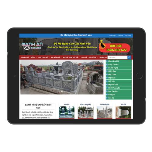 Mẫu Website Đá Mỹ Nghệ MA-123