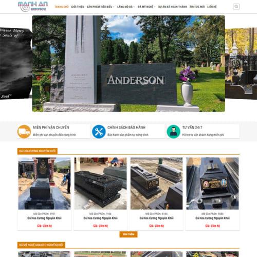 Mẫu Website Đá Mỹ Nghệ MA-124