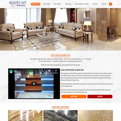 Mẫu Website Đá Ốp Lát MA-125