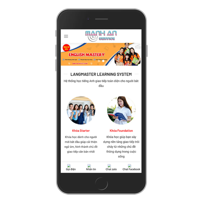Mẫu Website Đào Tạo, Bán Khóa Học MA-031